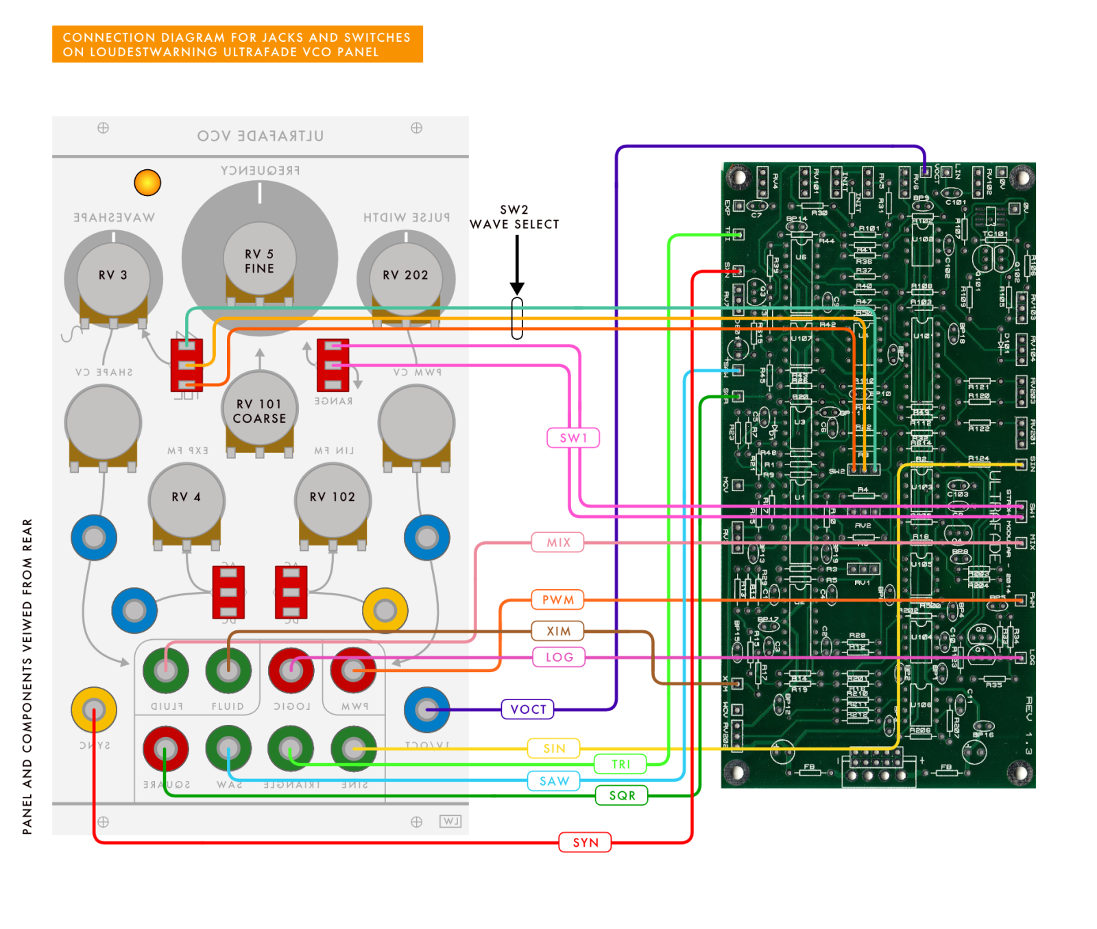 ULTRAFADE WIRING DIAGRAM JACKS AND SWITCHES V2